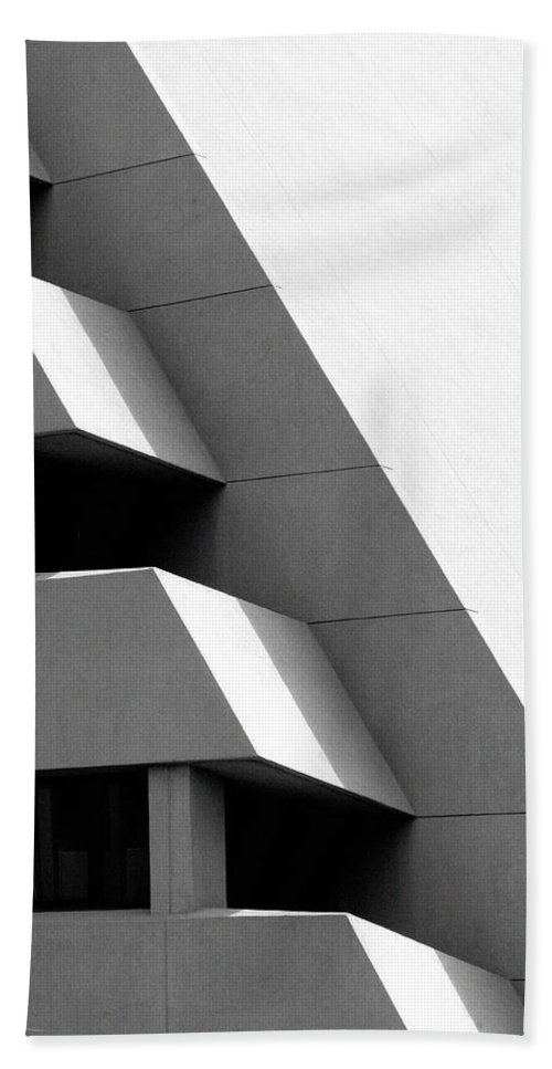 Architectural Beach Towel featuring the photograph Concretely Abstract View by Vicki Pelham