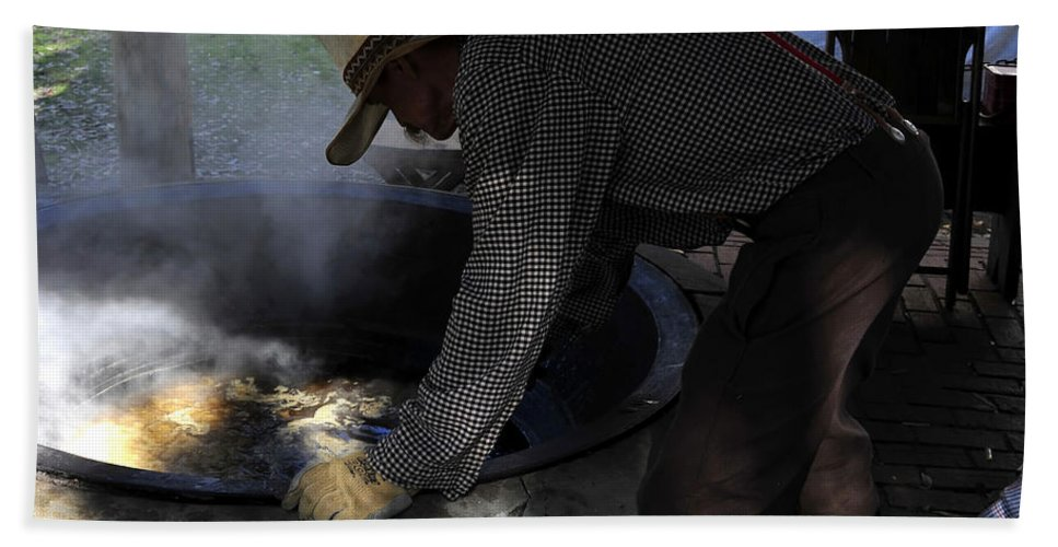 Fine Art Photography Beach Towel featuring the photograph Cooking Cane by David Lee Thompson