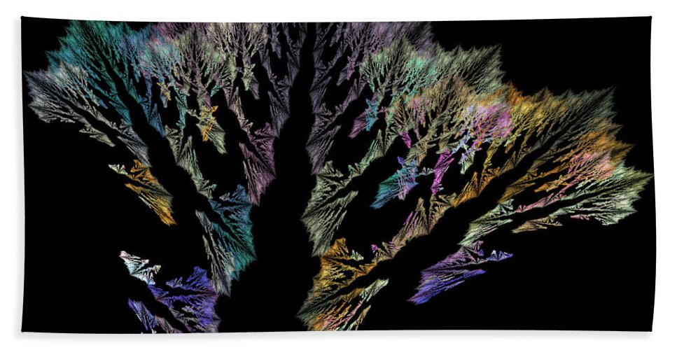 Coral Beach Towel featuring the digital art Coral by Betsy Knapp