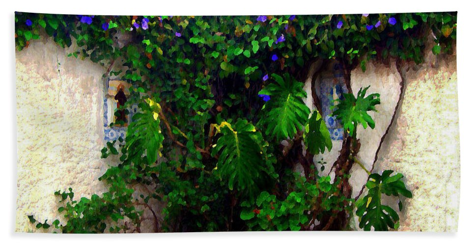 \barrio Historico\ Beach Towel featuring the photograph Corner In Uruguay by Joan Minchak