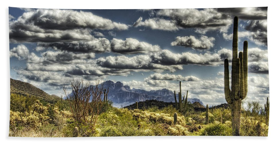 Arizona Beach Towel featuring the photograph Cotton Candy Clouds by Saija Lehtonen