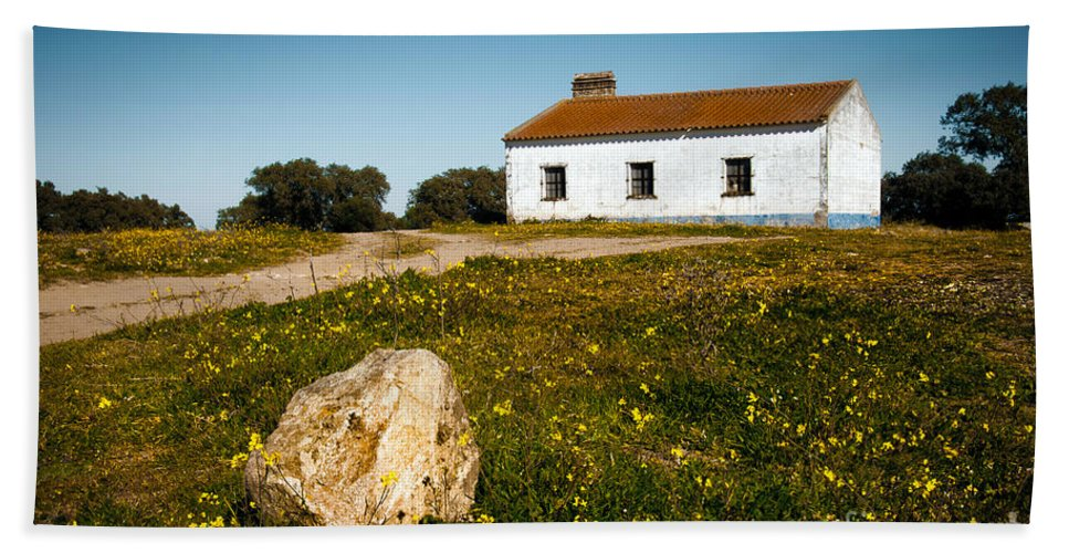 Abandoned Beach Towel featuring the photograph Country House by Carlos Caetano
