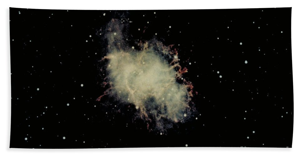 Astronomy Beach Towel featuring the photograph Crab Nebula by Hale Observatories