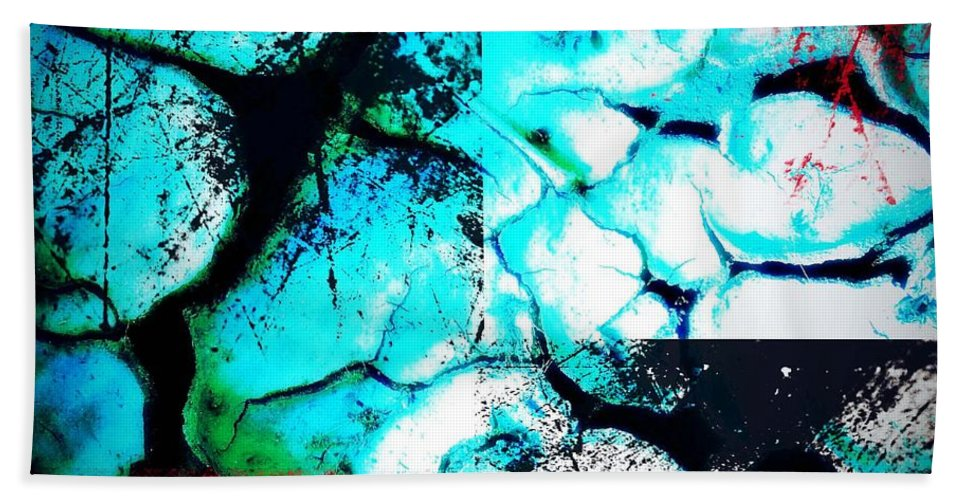 Desolate Beach Towel featuring the photograph Cracked Blue Mud by The Artist Project