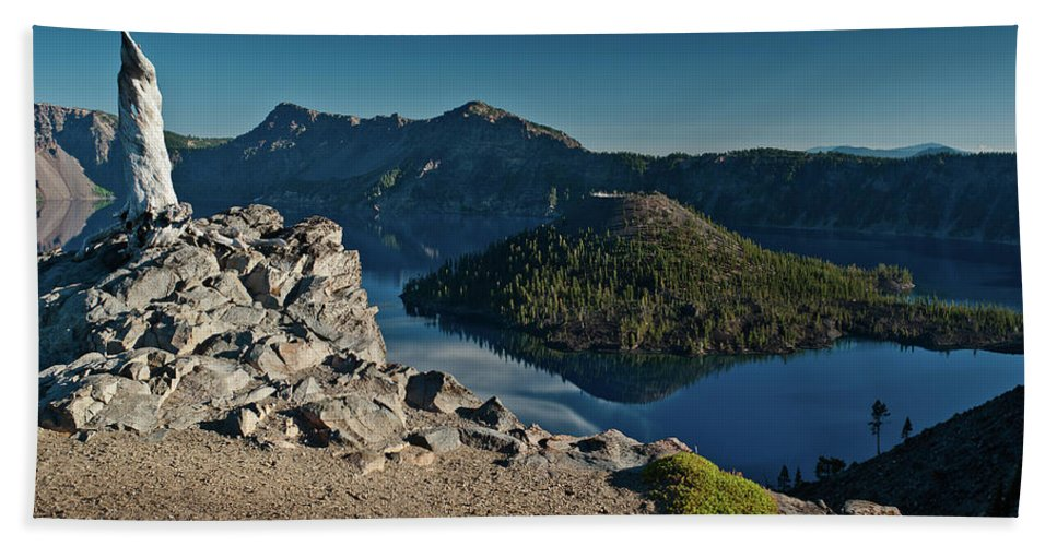 Cascades Beach Towel featuring the photograph Crater Lake Afternoon by Greg Nyquist