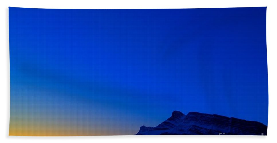 Banff National Park Beach Towel featuring the photograph Crescent Blues by James Anderson