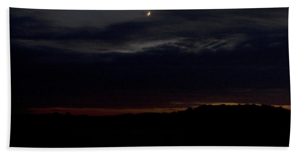 Landscape Beach Towel featuring the photograph Crescent by Jean Macaluso