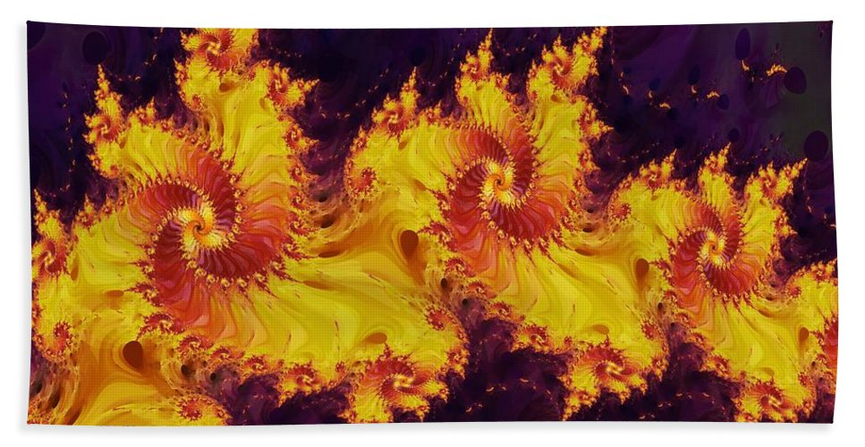 Fractal Beach Towel featuring the digital art Crown Of The Potentate by Richard Kelly
