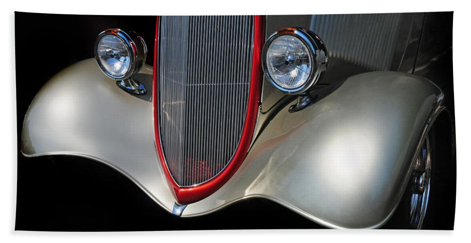 Custom Car Beach Towel featuring the photograph Custom Car by Dave Mills