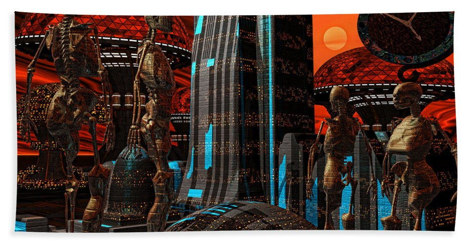 Cyborgs Beach Towel featuring the photograph Cyber Innovation by Lourry Legarde