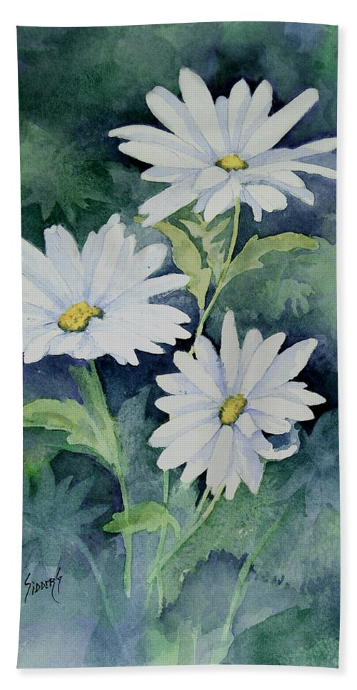 Daisy Beach Towel featuring the painting Daisies II by Sam Sidders