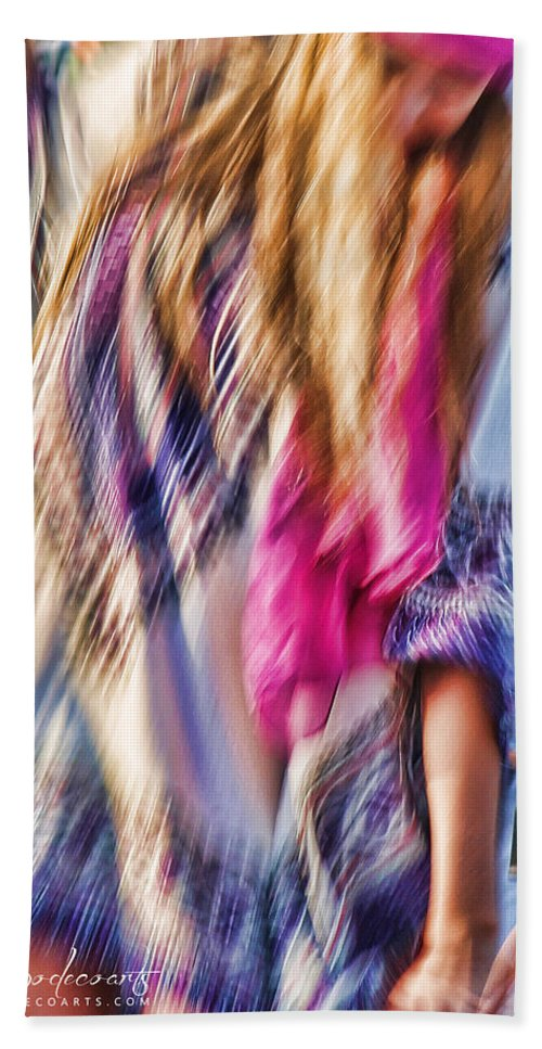 Dancing Beach Towel featuring the photograph Dancing Hippie by Robin Lewis