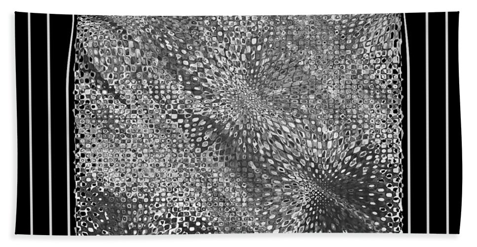 Abstract Beach Towel featuring the photograph Dare To Be Different - Black And White Abstract by Carol Groenen