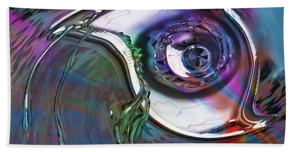 Dali Like Beach Towel featuring the mixed media Dark Side Eye by Kevin Caudill