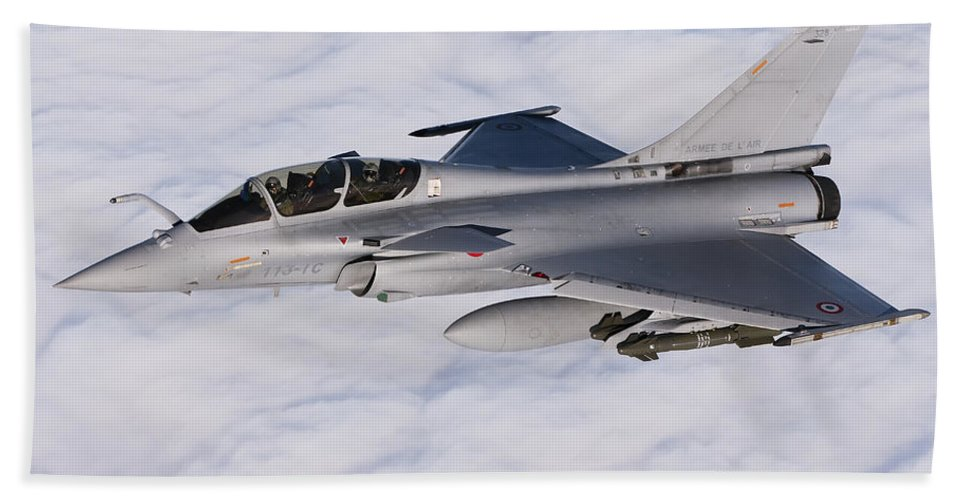 Evreux Beach Towel featuring the photograph Dassault Rafale B Of The French Air by Gert Kromhout