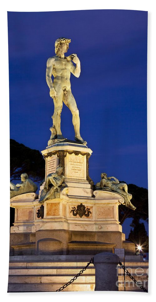 Piazzale Michelangelo Beach Towel featuring the photograph David by Brian Jannsen