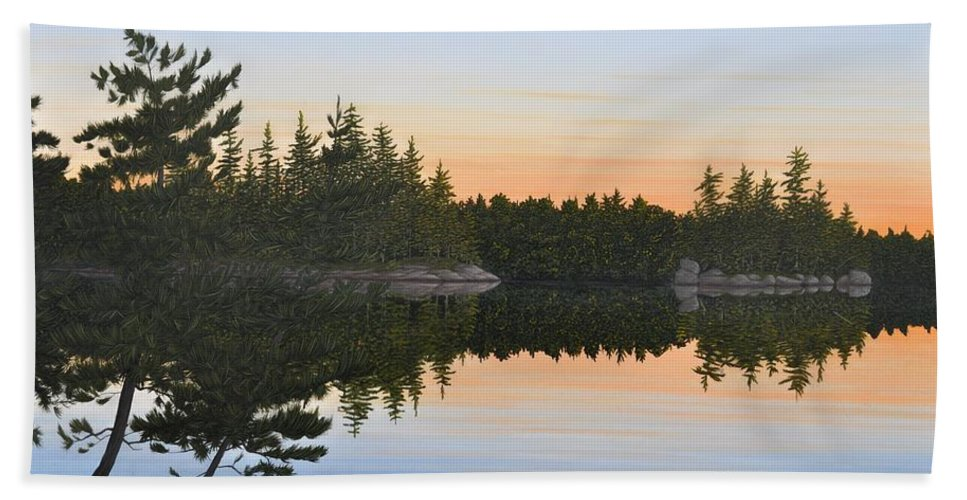 Landscape Beach Towel featuring the painting Dawns Early Light by Kenneth M Kirsch