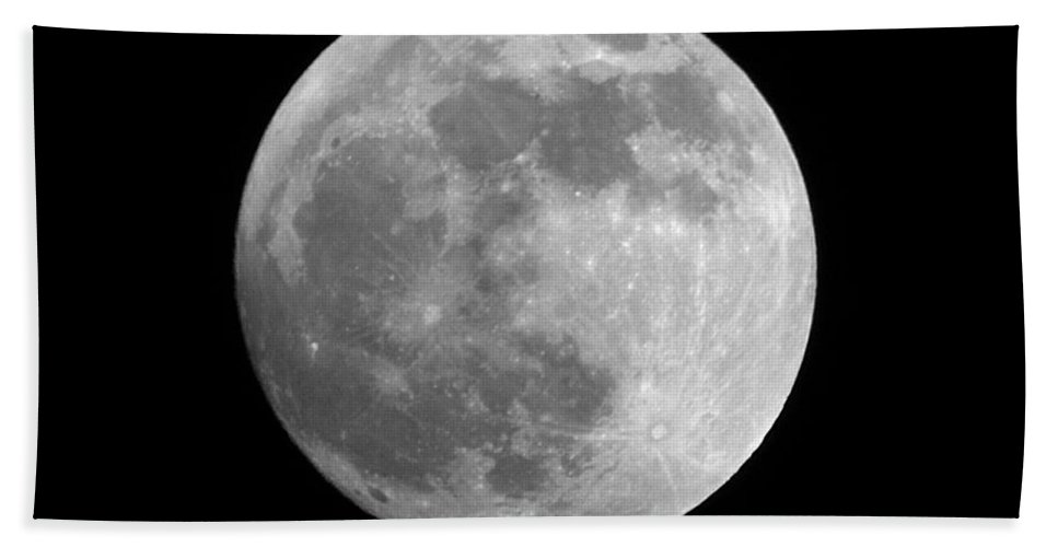 Moon Beach Towel featuring the photograph Day Before The Full Moon by Chris Day