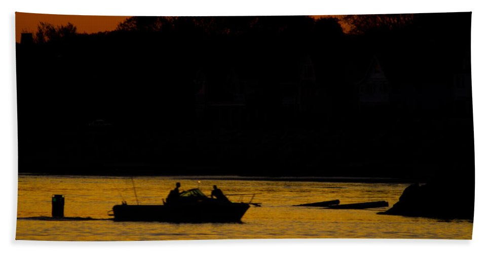 Fishing Beach Towel featuring the photograph Day Of Fishing Is Over by Karol Livote