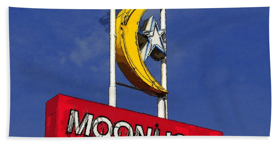 Art Beach Towel featuring the painting Daylight At The Moonlight by David Lee Thompson