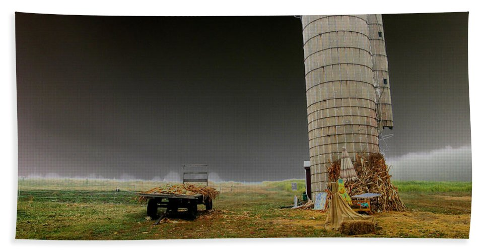 Tractor Beach Towel featuring the photograph Decayed by Cindy Roesinger