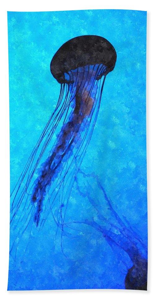 Jellyfish Beach Towel featuring the digital art Deepsea Serenity Dswc by Jim Brage