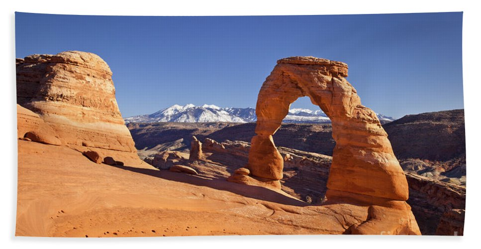 America Beach Towel featuring the photograph Delicate Arch by Brian Jannsen