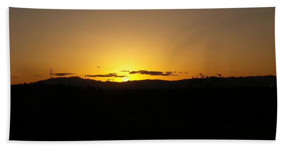 Desert Beach Towel featuring the photograph Desert Sunrise by Jonathan Barnes