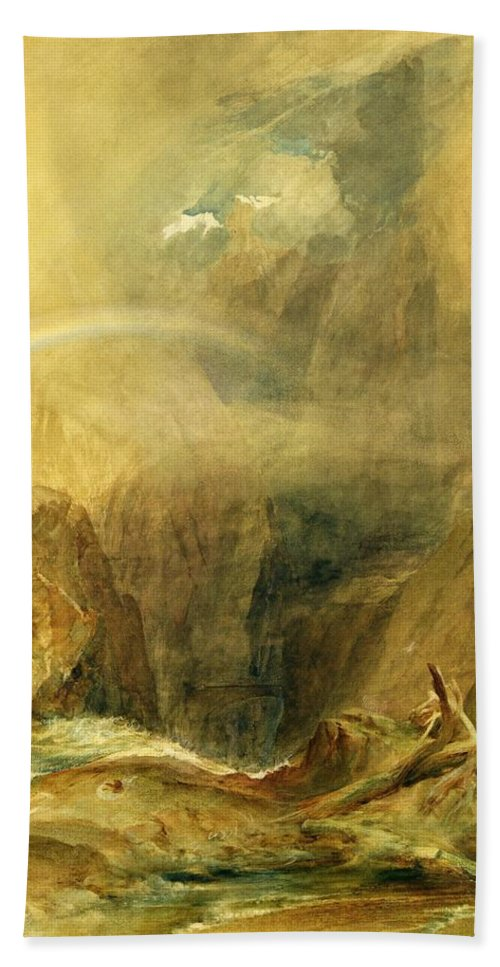 Xyc139607 Beach Towel featuring the photograph Devil's Bridge by Joseph Mallord William Turner