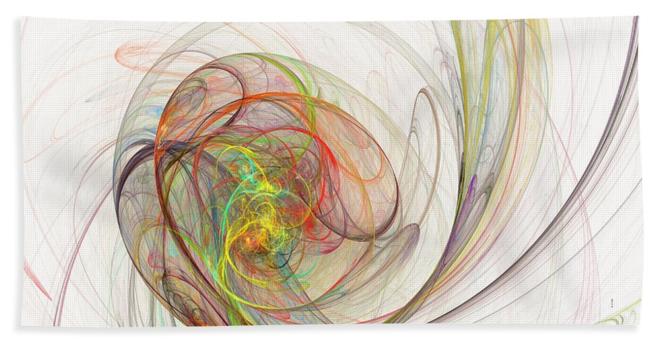 Fractal Beach Towel featuring the digital art Diffusion by Betsy Knapp