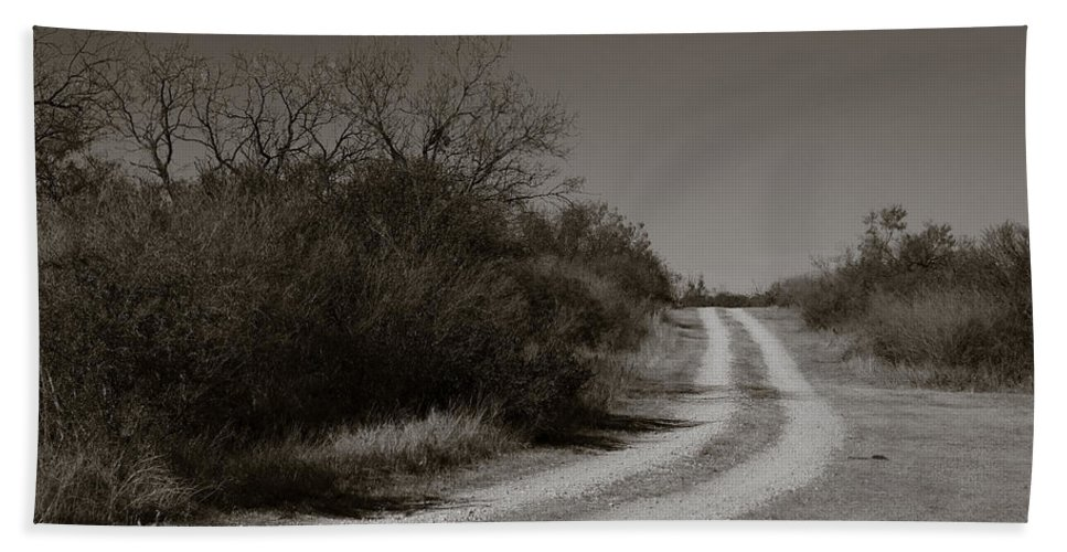 Black And White Beach Towel featuring the photograph Dirt Road by Sean Wray