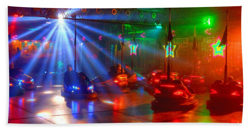 Dodgems Beach Towel featuring the photograph Dodgems by Rob Hawkins