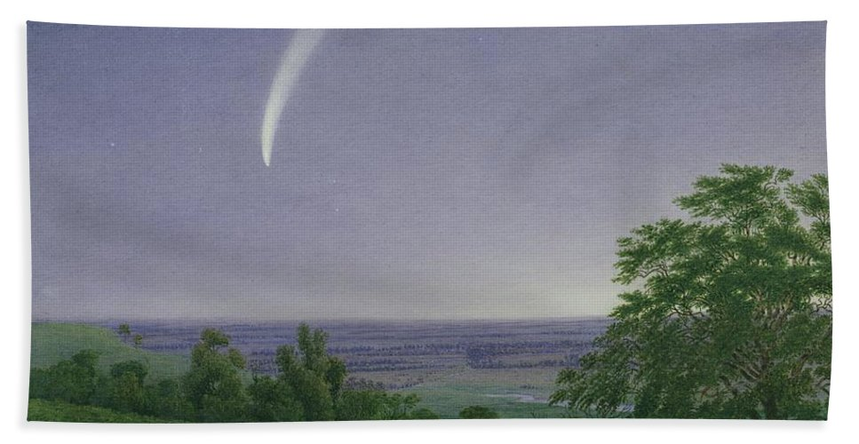 Donati Beach Towel featuring the painting Donati's Comet - Oxford by William Turner