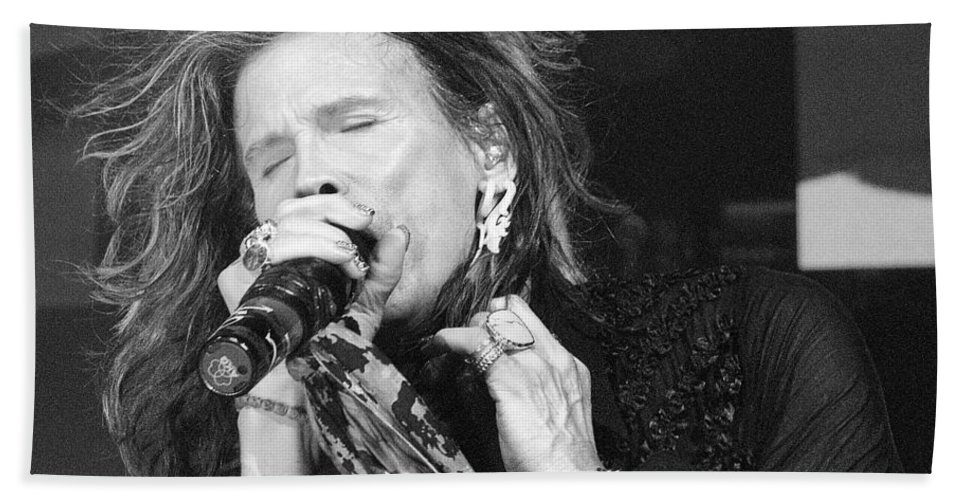Steven Tyler Beach Towel featuring the photograph Don't Want To Miss A Thing by Traci Cottingham