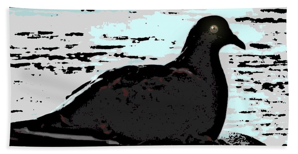 Pidgeon Beach Towel featuring the photograph Dove At The Beach by George Pedro