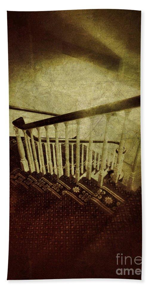 Stairs Beach Towel featuring the photograph Down A Staircase by Jill Battaglia