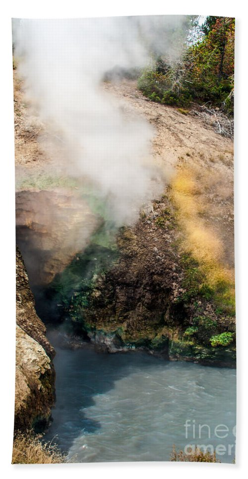 Geyser Beach Towel featuring the photograph Dragon's Mouth by Robert Bales