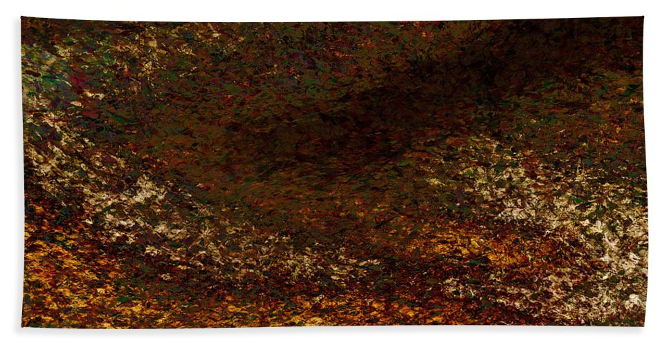 Beach Towel featuring the painting Dragon's Tale Macro1 by Christopher Gaston
