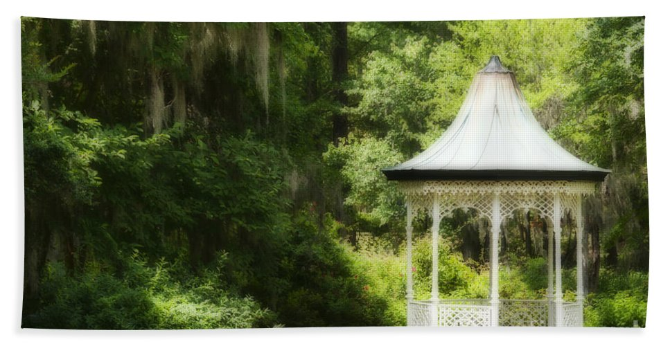 Gazebo Beach Towel featuring the photograph Dreaming Of by David Arment