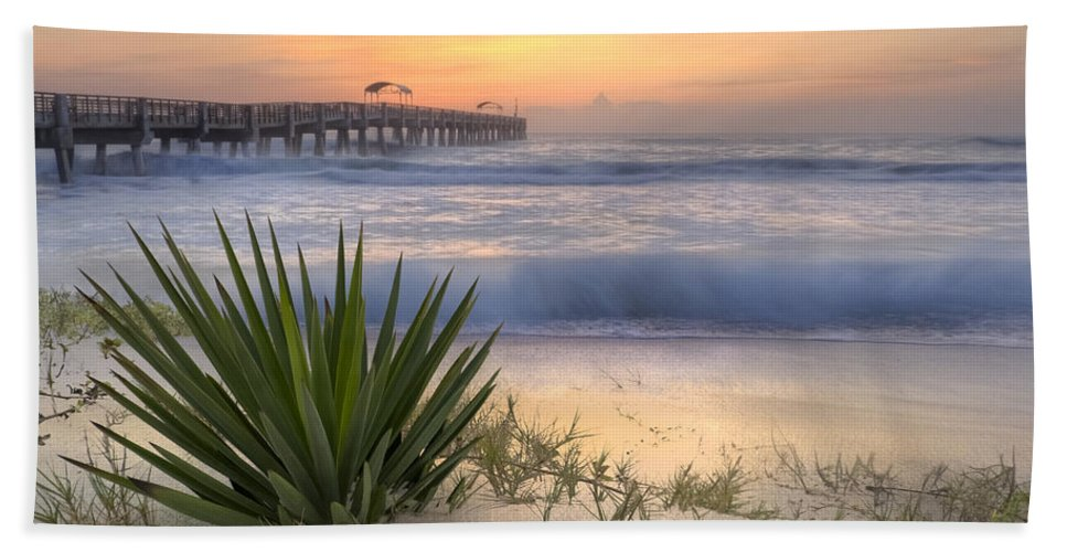 Clouds Beach Towel featuring the photograph Dreams By The Sea by Debra and Dave Vanderlaan