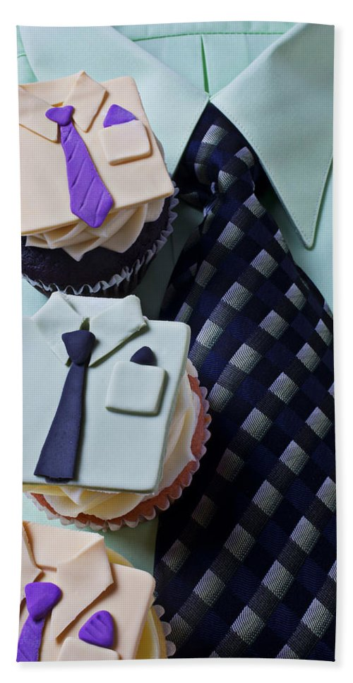 Cupcakes Beach Towel featuring the photograph Dress Shirt Cupcakes by Garry Gay