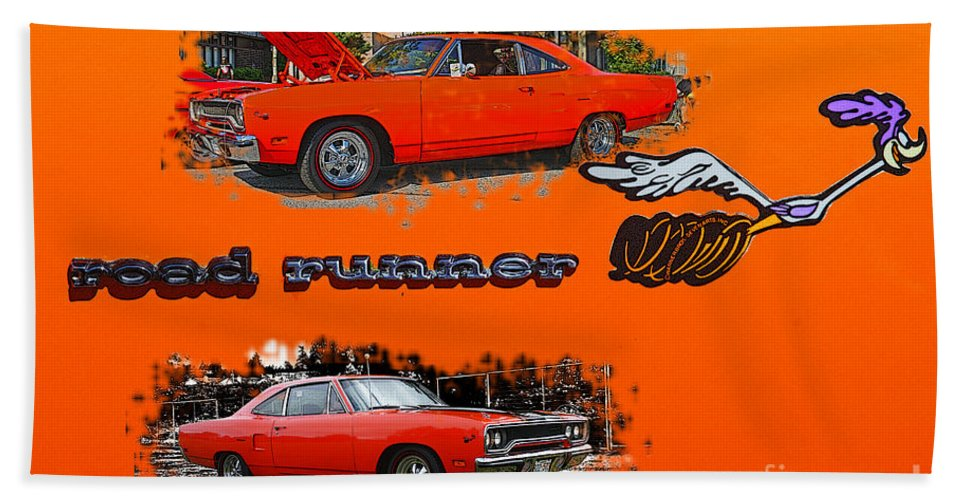 Cars Beach Towel featuring the photograph Dual Roadrunner Abstract by Randy Harris