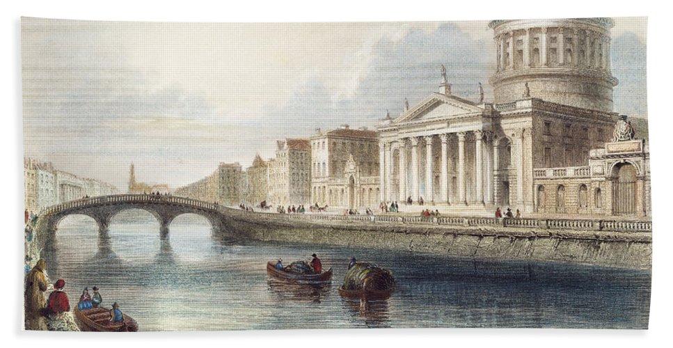 1842 Beach Towel featuring the photograph Dublin, 1842 by Granger