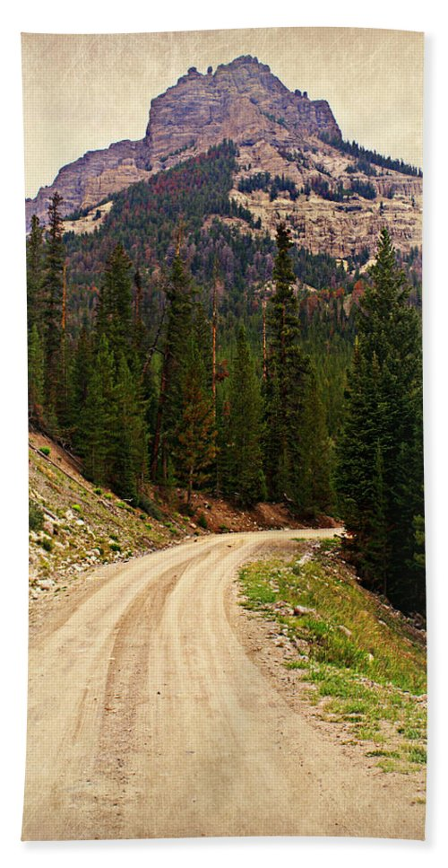 Mountains Beach Towel featuring the photograph Dubois Mountain Road by Marty Koch