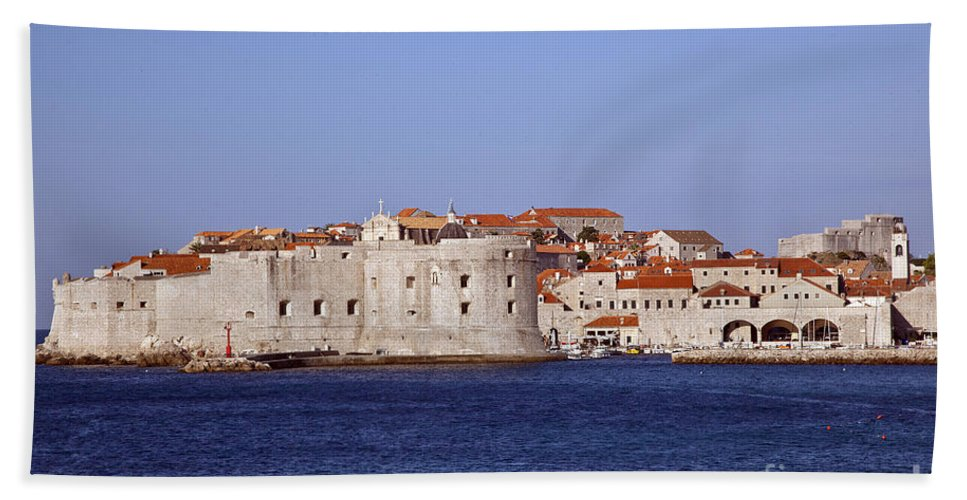Dubrovnik Beach Towel featuring the photograph Dubrovnik View 5 by Madeline Ellis