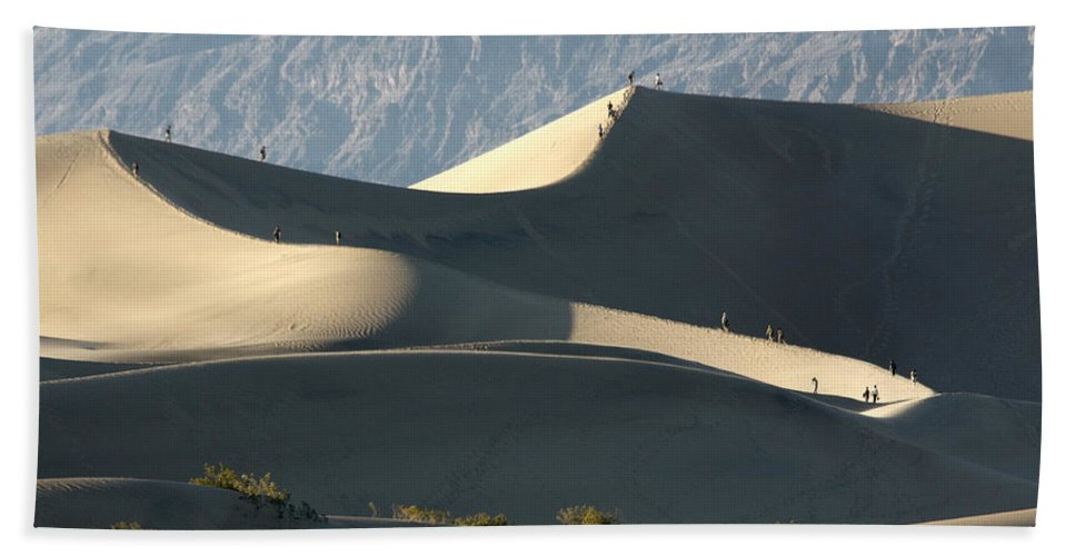 Dune Walkers Beach Towel featuring the photograph Dune Walkers by Wes and Dotty Weber