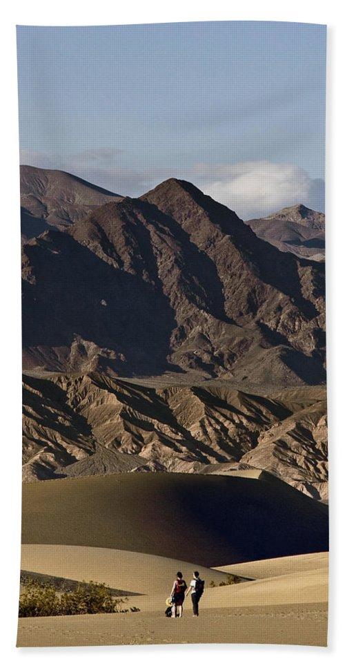 Dunes Of Death Valley Beach Towel featuring the photograph Dunes Of Death Valley by Wes and Dotty Weber