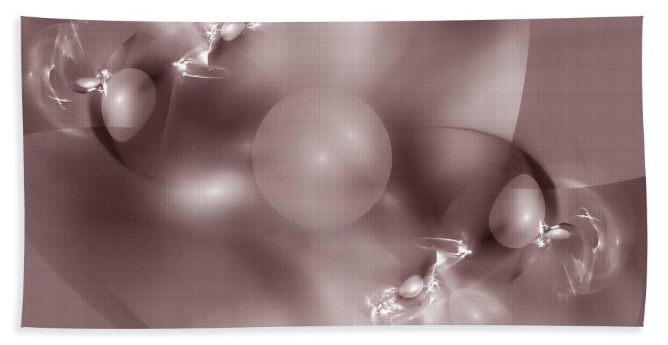 Abstract Beach Towel featuring the digital art Dusky Pink Dreams by Georgiana Romanovna