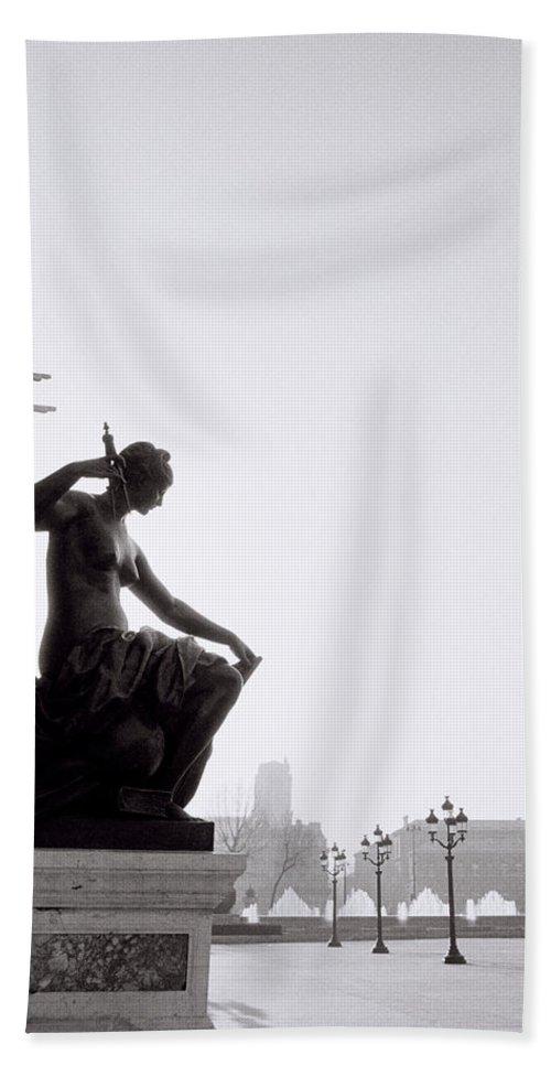Paris Beach Towel featuring the photograph Paris Sunrise by Shaun Higson