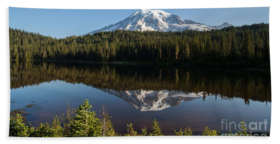 Rainier Beach Towel featuring the photograph Early Morning Majestic by Mike Reid